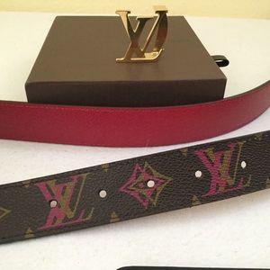8b7b6dfeb105 Louis Vuitton Accessories - Rare LouisVuitton Initial Reversible Hipster  Belt